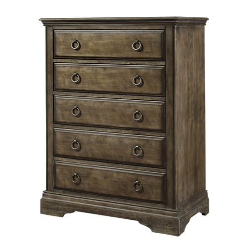 Miley 5 Drawer Chest in Almond