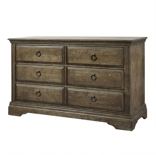 Miley 6 Drawer Double Dresser in Almond