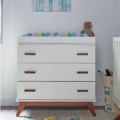 Norfolk 3 Drawer Dresser in Creme