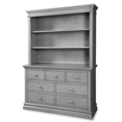 Ridge 7 Drawer Double Dresser and Hutch in Cloud