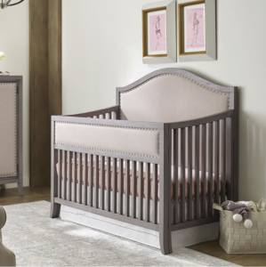 ED by Ellen Degeneres Wilshire Collection Arched Convertible Crib in True Grey