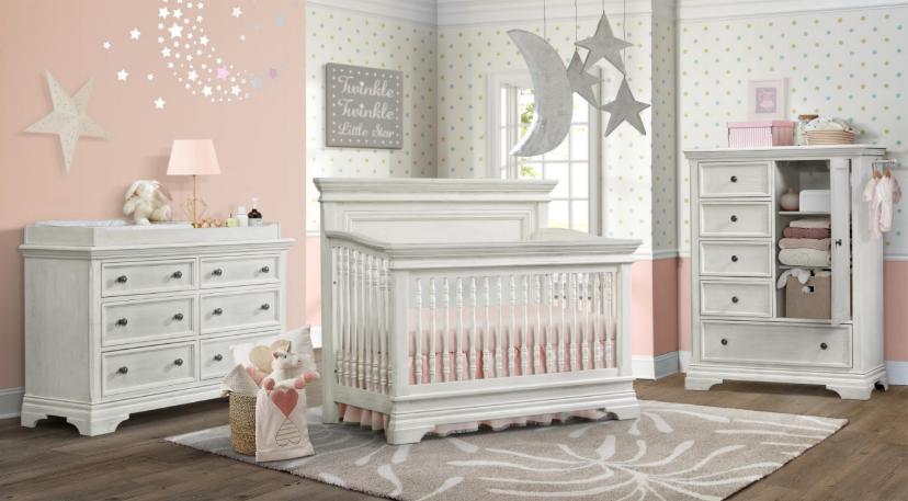 Alicia Convertible Crib In Weathered White