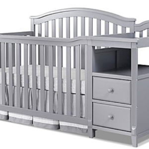 Callie Combo Crib and Dresser in Grey