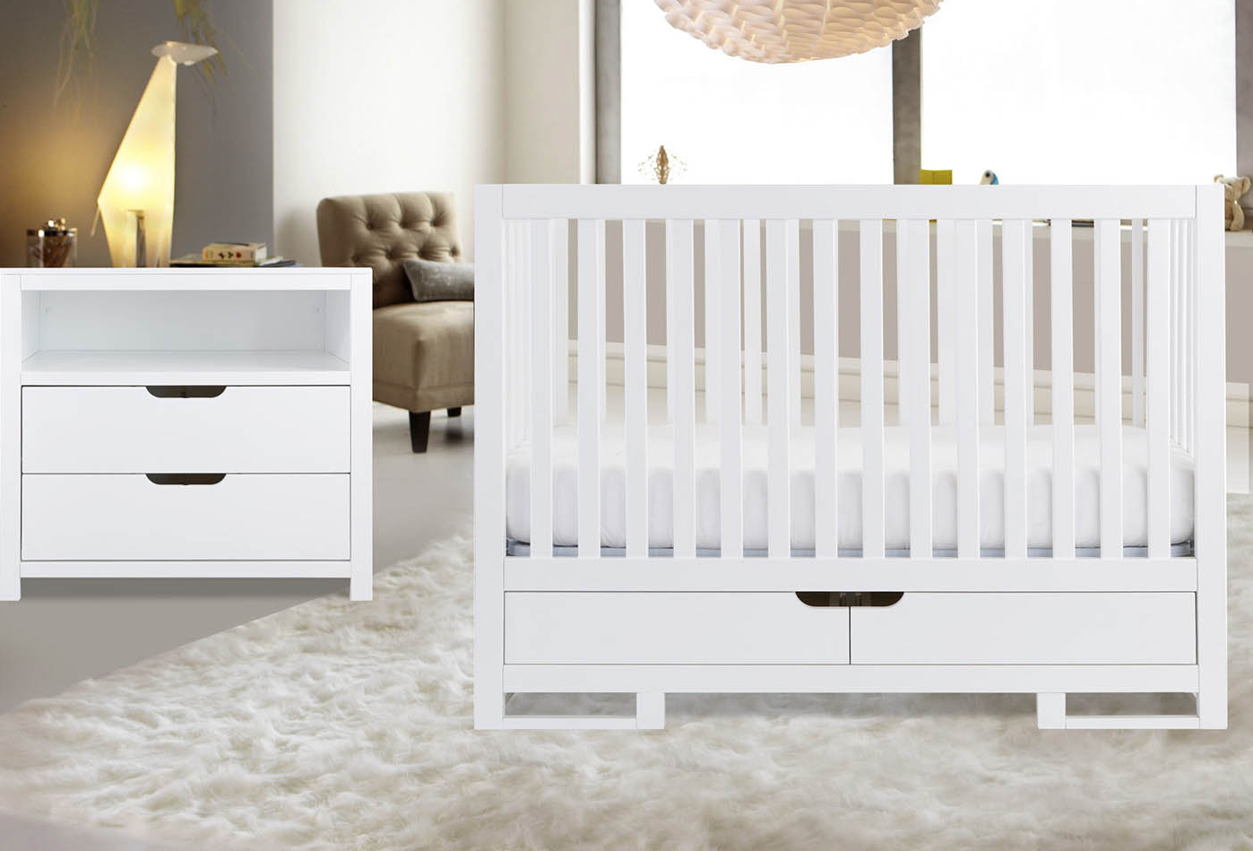 Karla Dubois Oslo with Changer Dresser in Pure White 1st