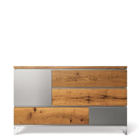 Pandora Double Dresser in Argento