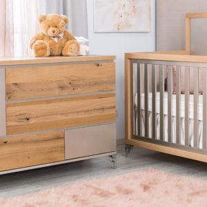 Romina Pandora Convertible Crib 2 Tone 2