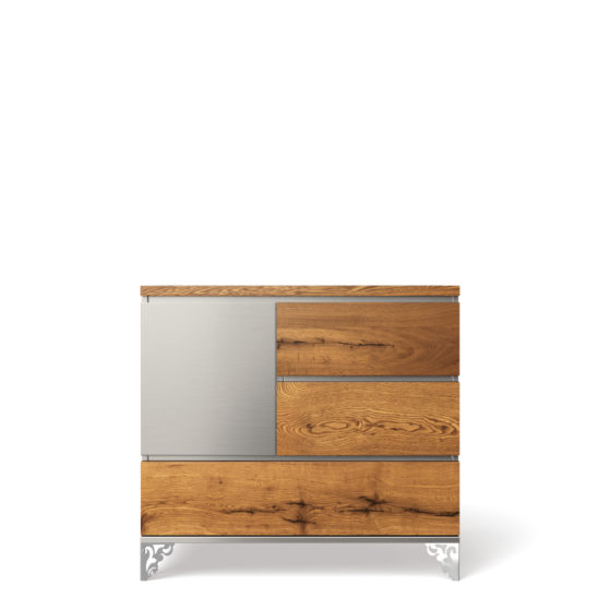 Romina Pandora Single Dresser in Argento
