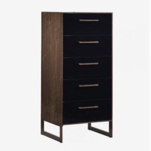 Tulip Rio Lingerie Chest in Walnut and Glossy Black
