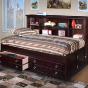 Vicki Lounge Bed in Espresso