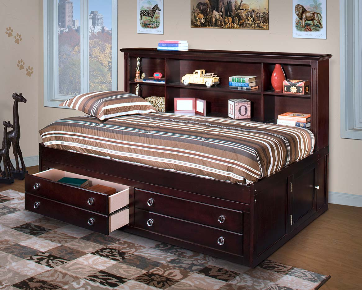 Vicki Lounge Bed in Espresso