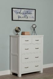 Kenwood 5 Drawer Chest in Distressed White