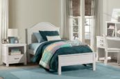 Kenwood Curved Top Bed in Distressed White