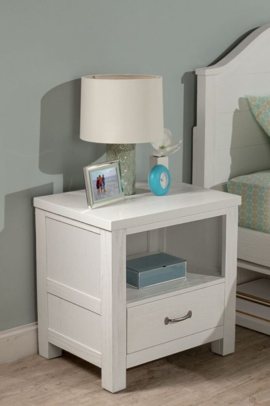 Kenwood Nightstand in Distressed White