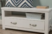 Kenwood Storage Bench in Distressed White