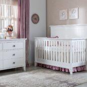 SILVA Edison Convertible Crib in White