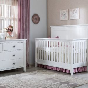 SILVA Edison Convertible Crib in White
