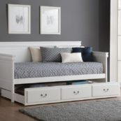 AC Straight Panel Daybed with Trundle in White