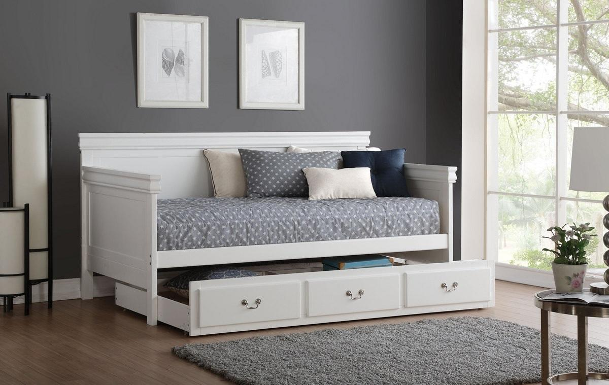 Ac Traditional Straight Panel Daybed With Trundle