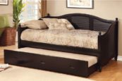 Bell Twin Size Daybed with Twin Trundle in Black