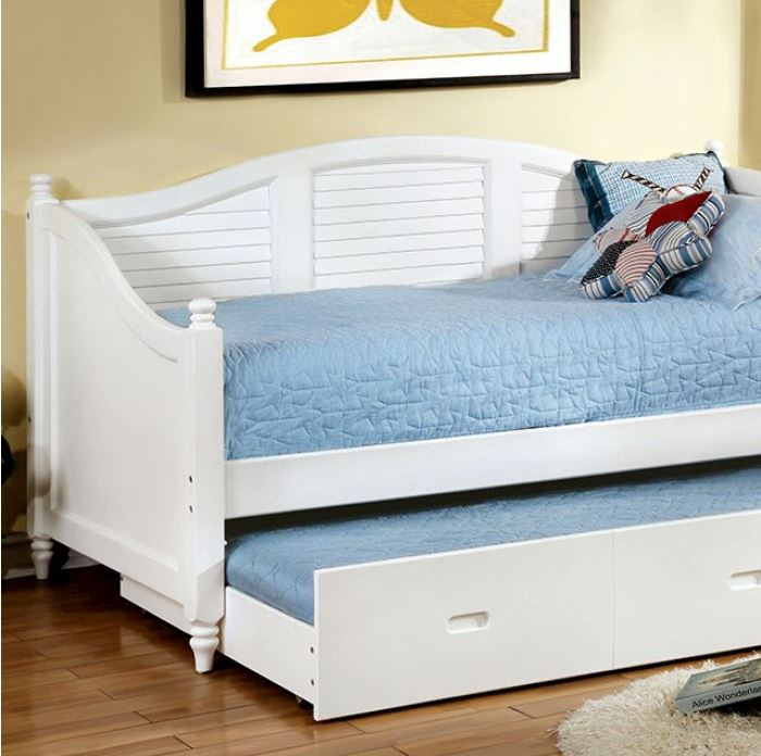 Bell Twin Size Cottage Daybed With Trundle Black Amp White