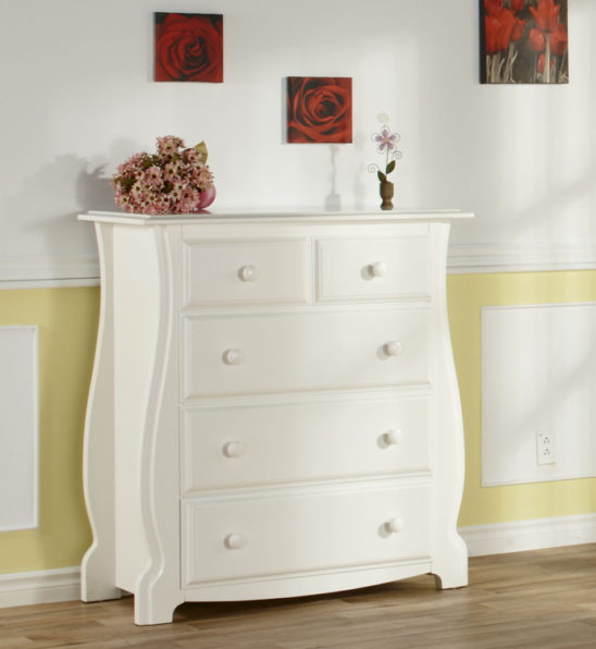 Bergamo 4 Drawer Chest in White