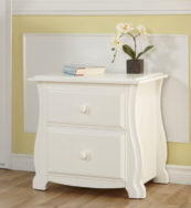 Bergamo Nightstand in White