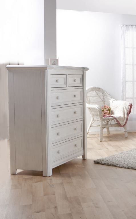 Cristallo 5 Drawer Chest in Vintage White PRO