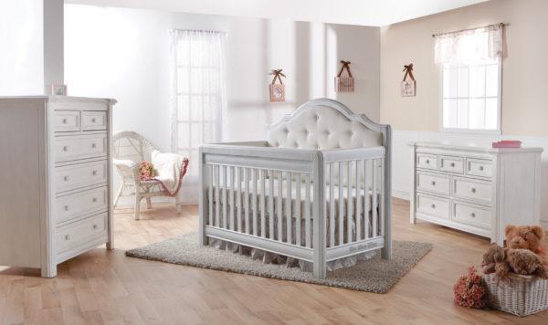 Cristallo Crib in Vintage White - Set 2