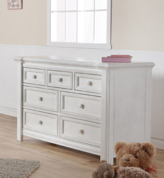 Cristallo Double Dresser in Vintage White 2