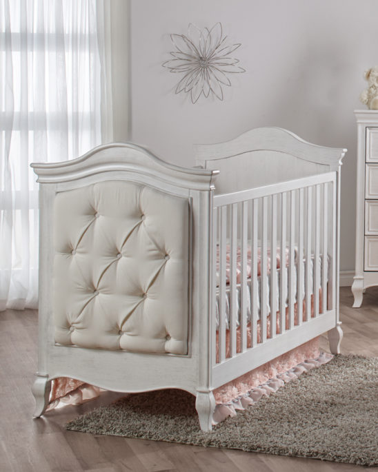 Diamante Classic Crib in Vintage White Solo