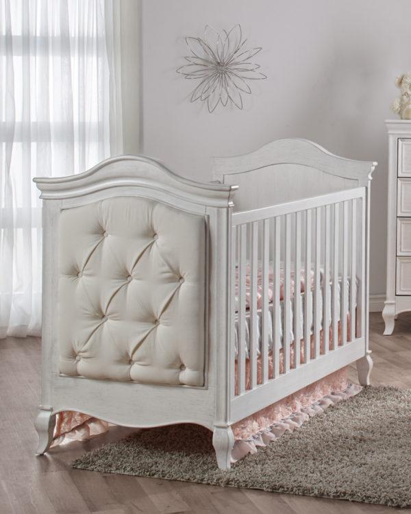 Diamante Classic Crib in Vintage White Solo