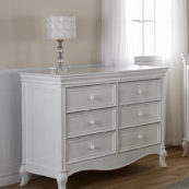 Diamante Double Dresser in Vintage White
