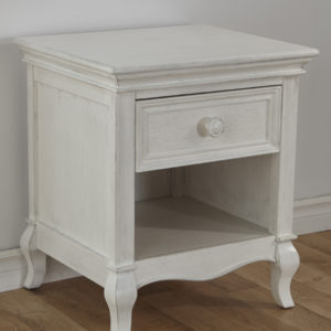 Diamante Nightstand in Vintage White