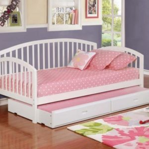 Fiona Twin Size Daybed with Trundle in White