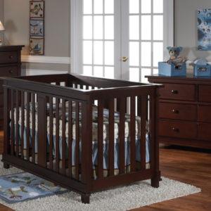 Lucas Forever Convertible Crib in Mocacchino