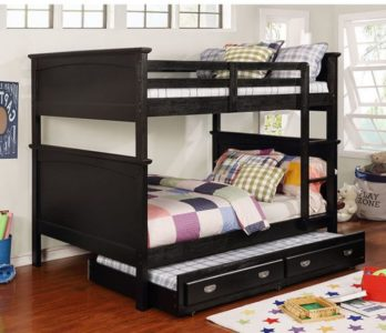 Maci Collection Full over Full Bunk Bed in Black