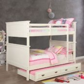 Maci Collection Full over Full Bunk Bed in White 2