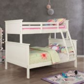 Maci Collection Twin over Full Bunk Bed in White
