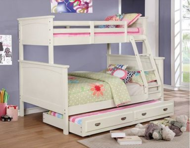 Maci Collection Twin over Full Bunk Bed in White 2