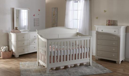 Napoli Crib in White