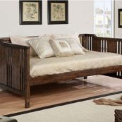 Nia Twin Size Daybed in Dark Walnut Room Photo