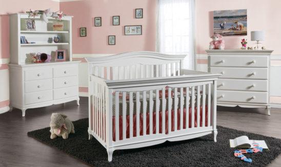 Nova Convertible Crib in White