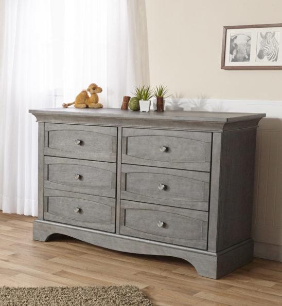 Ragusa Double Dresser in Distressed Granite