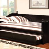 Wally Twin Size Daybed with Trundle in Black