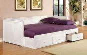 Wolfe Full Size Daybed with Underbed Storage in White