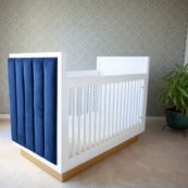Astoria Crib - Blue Velvet