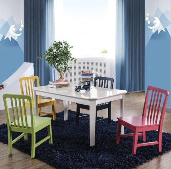 Colorful Table and Chair Set