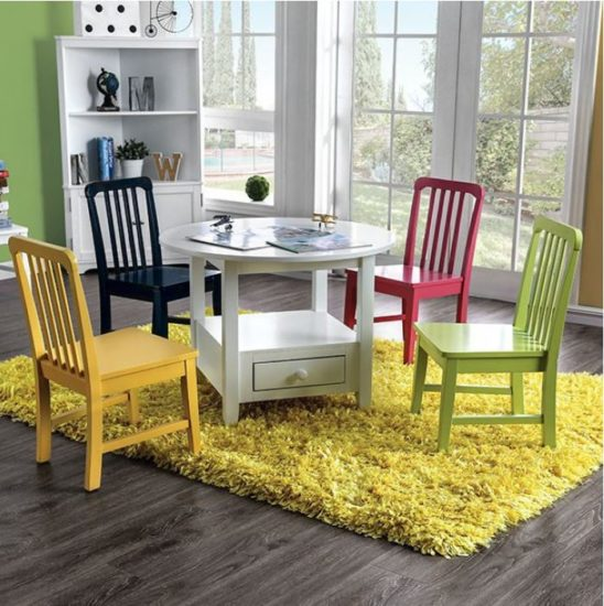 Colorful Table and Chair Set - Round Table