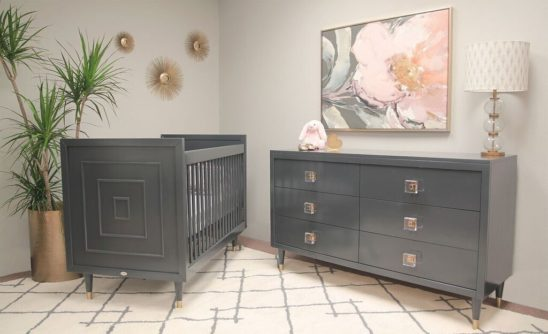 Uptown Crib and Double Dresser