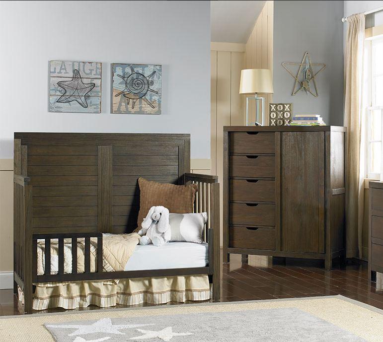 Cassie Convertible Crib Weathered White Weathered Grey